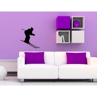Ski Skier Vinyl Wall Decal