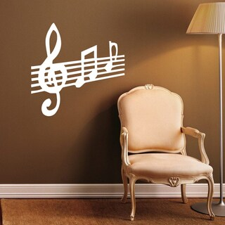 Staff Notation Treble Clef Musical Notes Vinyl Wall Decal