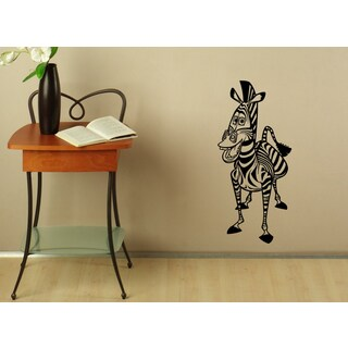 Cartoon Zebra Vinyl Wall Decal