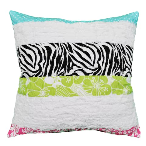 Cottage Home Lacey Zebra Stripe 20 Inch Throw Pillow