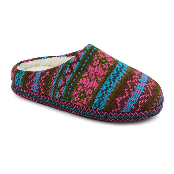 Muk Luks Women's Flora Pattern Scruff Slippers