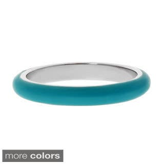 Stainless Steel Blue or Green Enamel Ring|https://ak1.ostkcdn.com/images/products/8441837/8441837/Stainless-Steel-Blue-or-Green-Enamel-Ring-P15736704.jpg?impolicy=medium