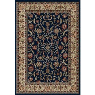 Traditional Oriental Keshan Navy Area Rug (7'10 x 9'10)