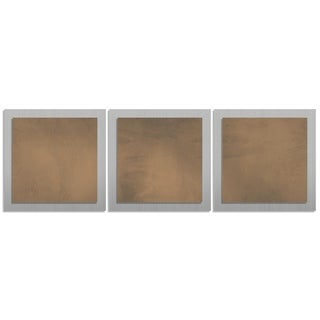 Belle 'Brown Essence' Layered Modern Metal Wall Art