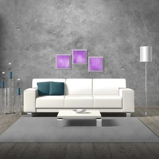Belle 'Violet Essence' Layered Modern Metal Wall Art
