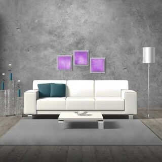 Belle 'Violet Essence' Layered Modern Metal Wall Art