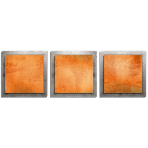 Orange Essence' 2-Layer Modern Metal Wall Art