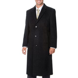 Pronto Moda Men's 'Harvard' Charcoal Cashmere Blend Long Top Coat|https://ak1.ostkcdn.com/images/products/8441925/Pronto-Moda-Mens-Harvard-Charcoal-Cashmere-Blend-Long-Top-Coat-P15736772s.jpg?impolicy=medium