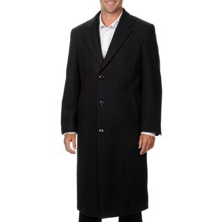 Cianni Cellini Men's 'Harvard' Charcoal Wool Blend Long Top Coat