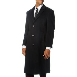 Cianni Cellini Men's 'Harvard' Black Wool Blend Long Top Coat (More options available)