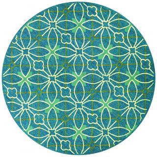 """Fresco Netherlands/Aqua-Blue 7'10"""" Round Rug"""