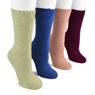 MUK LUKS Women's 8-inch Micro Chenille Sock