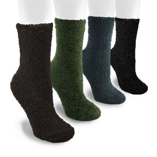 MUK LUKS Men's 8-inch Micro Chenille 4 Pair Sock Pack