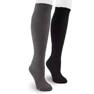 MUK LUKS Men's Micro Chenille 2 Pair Sock Pack