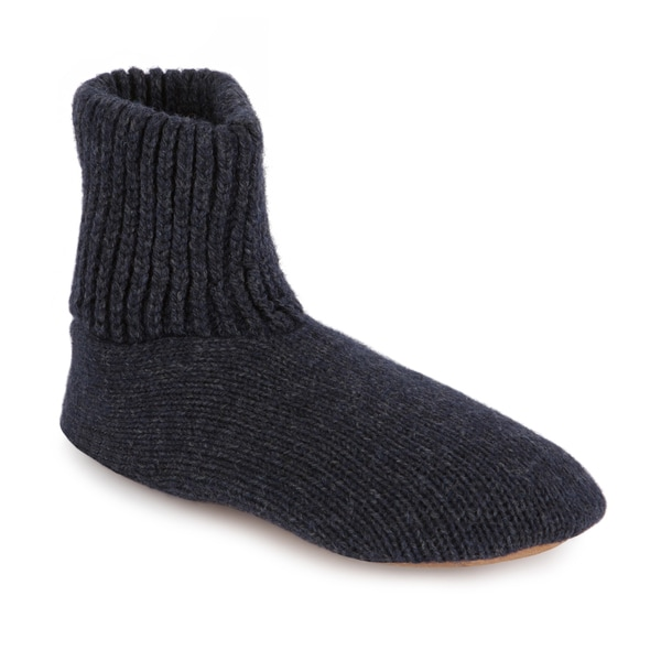 Shop Muk Luks Morty Men S Ragg Wool Slipper Sock With