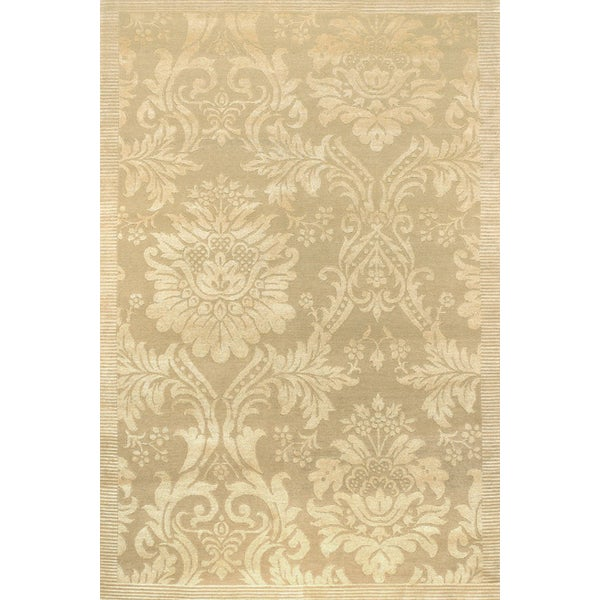 Impressions Antique Damask/Gold-Ivory 8' x 10' Rug