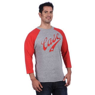 Case IH Men's Grey/ Red Baseball Style Jersey