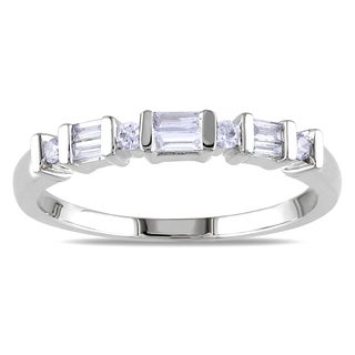 Miadora 14k White Gold 1/4ct TDW Diamond Anniversary Ring