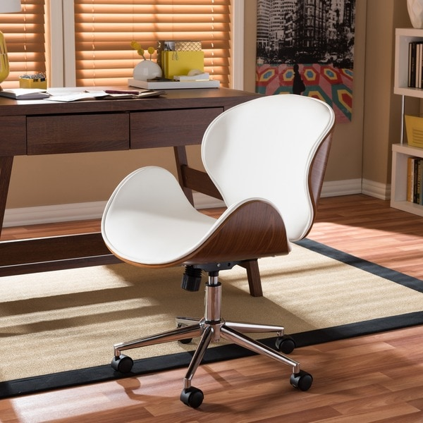 baxton studio bruce walnut modern office chair - free shipping