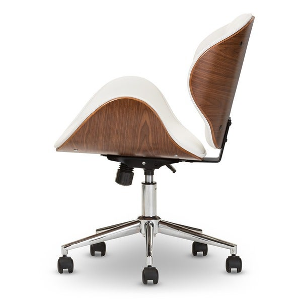baxton studio bruce walnut modern office chair free shipping today