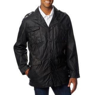 Excelled Men's Multi Pocket Leather Jacket