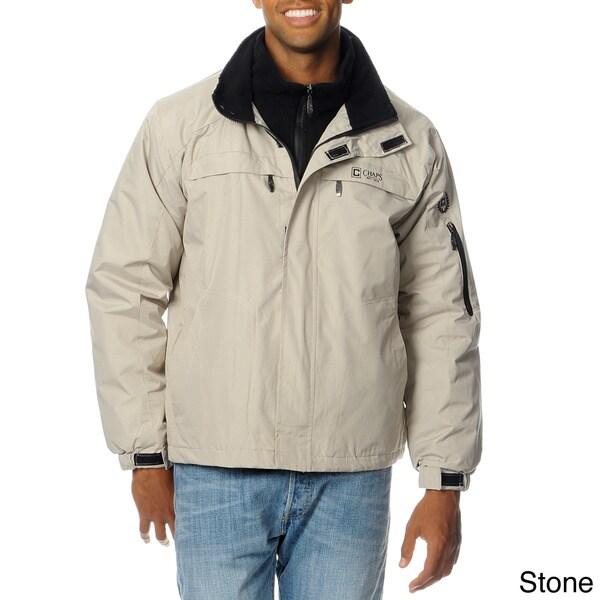 Chaps Men's Double Collar Fleece Bib Jacket