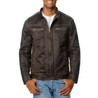 Excelled Men's Antique Cotton Moto Jacket