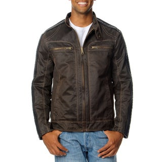 Excelled Men's Antique Cotton Moto Jacket