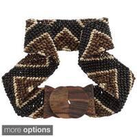 Handmade 1 World Sarongs Women's Handmade Coco Bead Motif Belt (Indonesia)