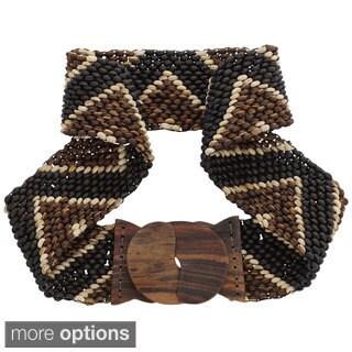 1 World Sarongs Women's Handmade Coco Bead Motif Belt (Indonesia)