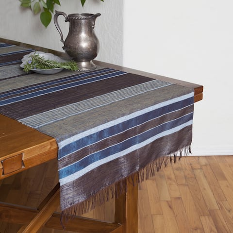 Handmade Blues Table Runner (Morocco)