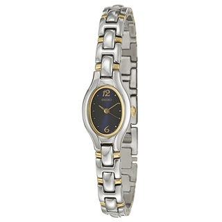 Seiko Women's 'Bracelet' Stainless Steel/ Yellow Goldplated Quartz Watch