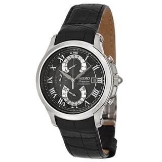 Seiko Women's 'Premier Chronograph' Stainless Steel Chronograph Watch