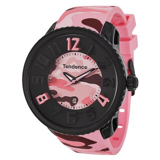 Tendence Women's 'Gulliver Round Camo' Polycarbonate and Stainless Steel Watch