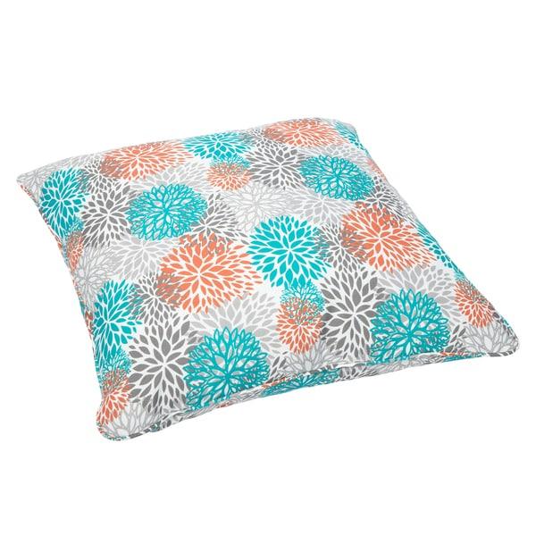 Tropic Bloom Corded Outdoor/ Indoor Large 26-inch Floor Pillow
