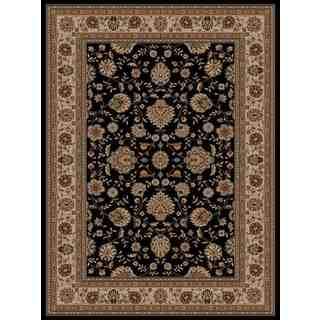 Traditional Oriental Black Area Rug (5'3 x 7'3)
