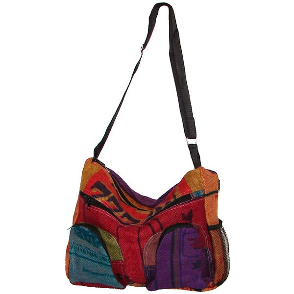 c5562cce9f Shop Handmade Recycled Jute Shoulder Bag (Nepal) - Free Shipping On Orders  Over  45 - Overstock - 8442420