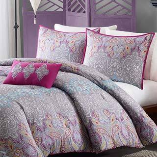 Mi Zone Torrance Grey Comforter Set