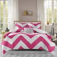 Mi Zone Virgo Reversible Pink Duvet Cover Set