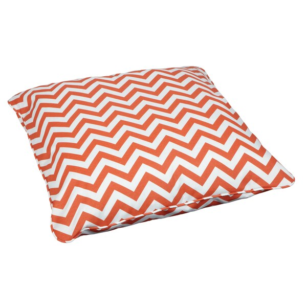 Chevron Orange Corded Outdoor/ Indoor Large 26-inch Floor Pillow - Free Shipping Today ...