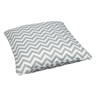 Chevron Grey Corded Outdoor/ Indoor Large 26-inch Floor Pillow