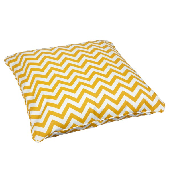 Giant Chevron Floor Pillows : Chevron Yellow Corded Outdoor/ Indoor Large 26-inch Floor Pillow - Free Shipping Today ...