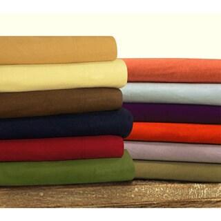 Tribeca Living Solid Flannel Extra Deep Pocket Sheet Set (Sold Seperately)