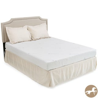 Christopher Knight Home Comfort Medium Firm 8-inch Full-size Gel Memory Foam Mattress With Bonus Pillows