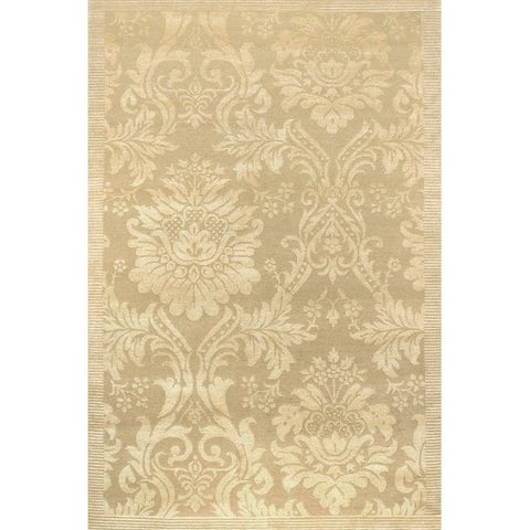 Couristan Impressions Antique Damask/ Gold-Ivory Area Rug - 6' x 9'