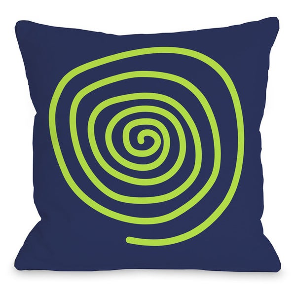 Neon Swirl Throw Pillow
