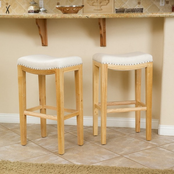 Shop Avondale 30 Inch Beige Backless Bar Stool Set Of 2