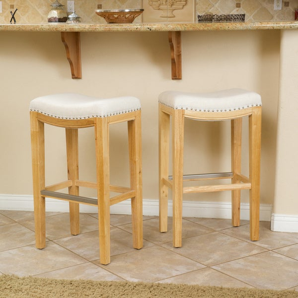 Christopher Knight Home Avondale Beige Backless Bar Stool