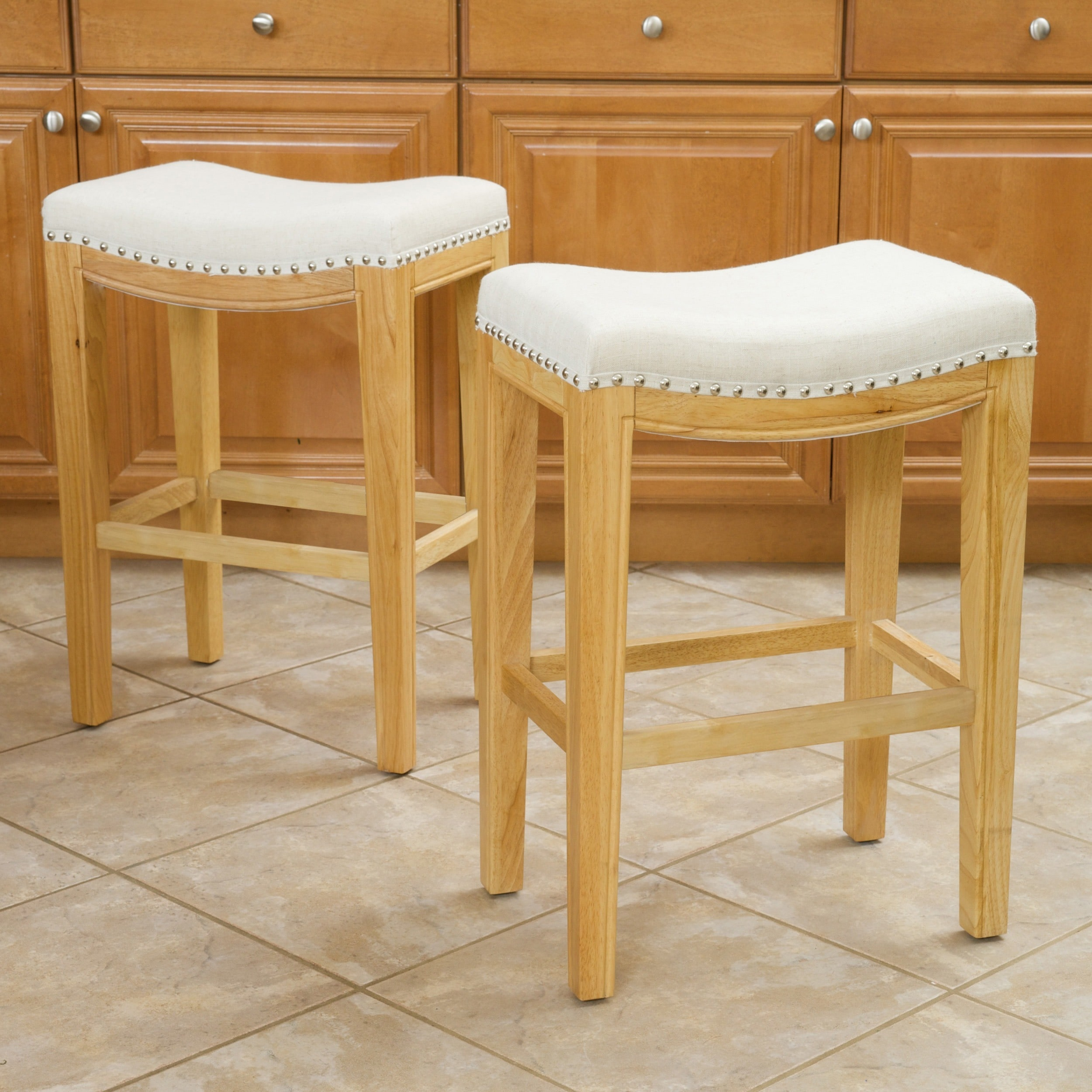 Avondale 26 Inch Beige Backless Counter Stool Set Of 2 By