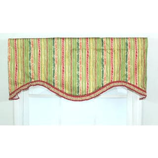 Aloe Stripe Contemporary Cornice Window Valance